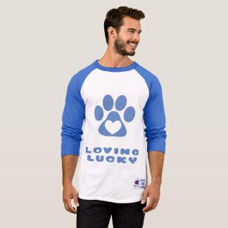 3/4 de t-shirt do basebol do Raglan da luva - amor