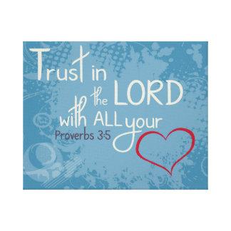 3:5 dos provérbio impressão de canvas envolvida