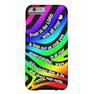 3:5 dos provérbio - confiança 6 no senhor - zebra capa barely there para iPhone 6