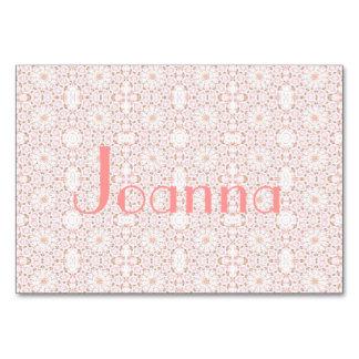 "3,5"" horizontal cor-de-rosa floral x 5"" Tablecard,"