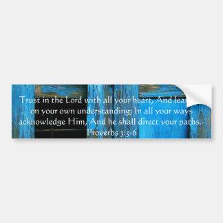 3:5 inspirado dos provérbio das citações da bíblia adesivo para carro