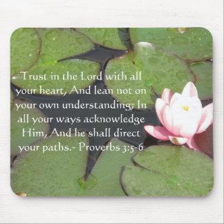 3:5 inspirado dos provérbio das citações da bíblia mousepad