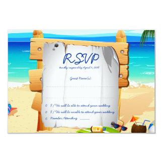 """3,5 x 5"""" cartão de casamento do conselho RSVP da Convite 8.89 X 12.7cm"""