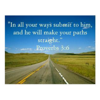 3:6 dos provérbio cartão postal