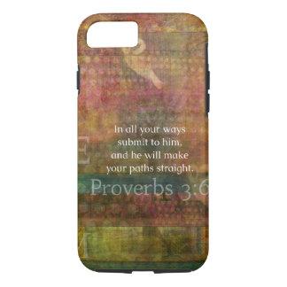 3:6 dos provérbio: Verso inspirado da bíblia Capa iPhone 7