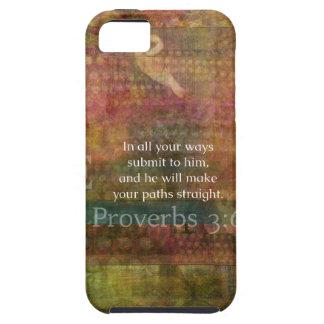 3:6 dos provérbio: Verso inspirado da bíblia Capas De iPhone 5 Case-Mate