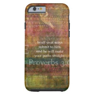3:6 dos provérbio: Verso inspirado da bíblia Capa Para iPhone 6 Tough