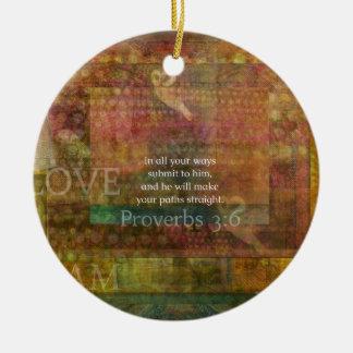 3:6 dos provérbio: Verso inspirado da bíblia Ornamento De Cerâmica Redondo