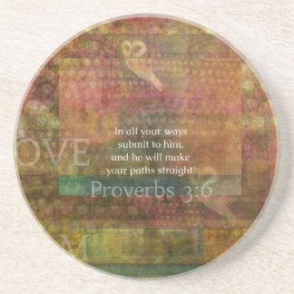 3:6 dos provérbio: Verso inspirado da bíblia Porta Copos