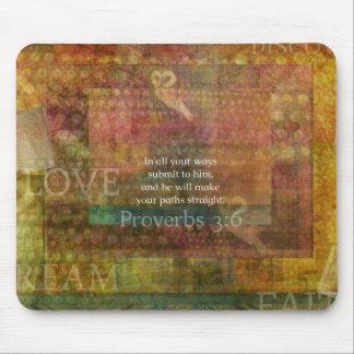 3:6 dos provérbio: Verso inspirado da bíblia Mousepad