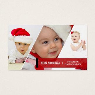 3 cartões de visitas da diagonal da foto