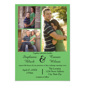 3 fotos esverdeiam - o convite do casamento