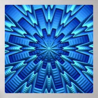 3D poster da arte abstracta 1A