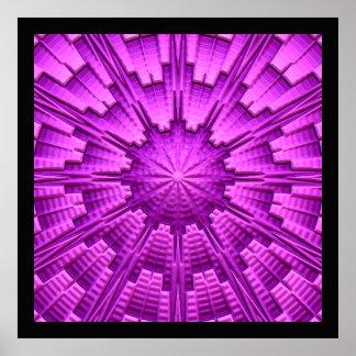 3D poster da arte abstracta 3 Pôster