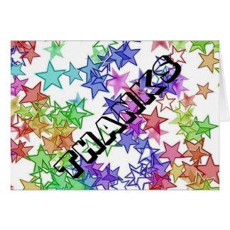 40 algo obrigado de StarBurst você cartão de nota