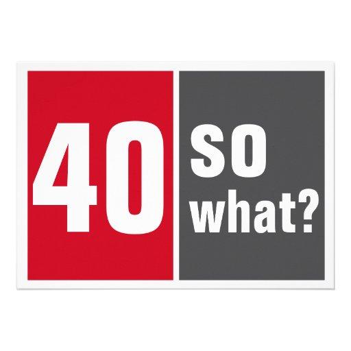 40 birthday invitation convites personalizado