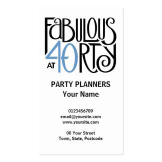 40 fabulosos cartão de visita azul preto