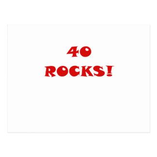 40 rochas cartão postal