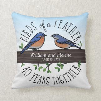 40th Aniversário de casamento, Bluebirds de uma Almofada