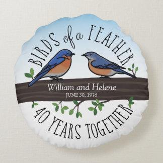 40th Aniversário de casamento, Bluebirds de uma Almofada Redonda