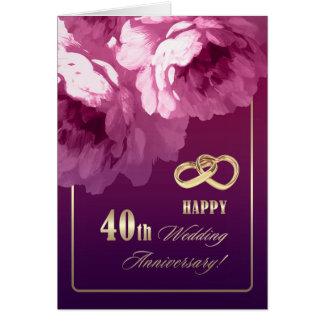 40th Cartões do aniversário de casamento