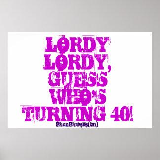 40th poster adulto engraçado do aniversário