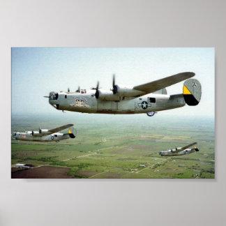 449th B-24 funcionado bomba Poster