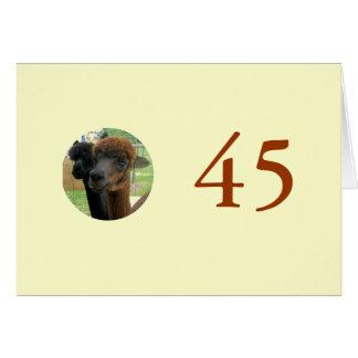 45th Aniversário Cartão Comemorativo