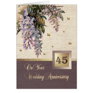 45th Cartões do aniversário de casamento