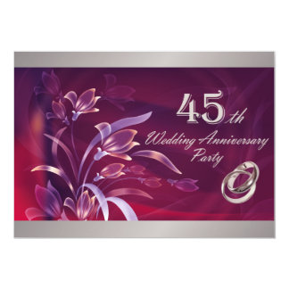 45th Convites da festa de aniversário do casamento