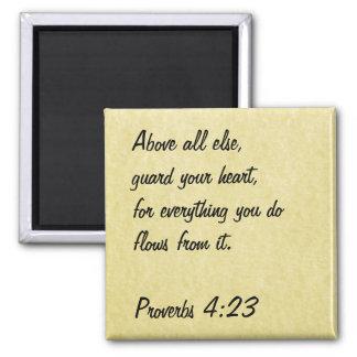 4:23 dos provérbio do ímã do verso da bíblia ímã quadrado
