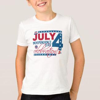 4 de julho camisa da celebração, frente e verso