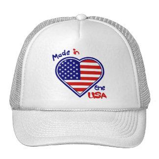 4 de julho coração da bandeira americana feito nos boné