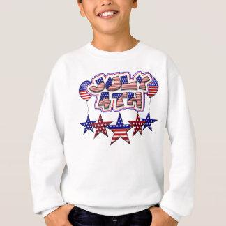 4 de julho estrelas t-shirts