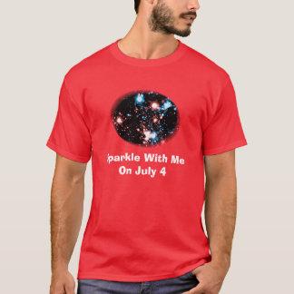 4 de julho faísca engraçada dos fogos-de-artifício t-shirt
