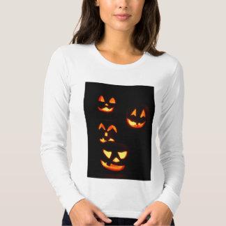 4 Jack-O-Lanternas do Lit - laranja Camisetas
