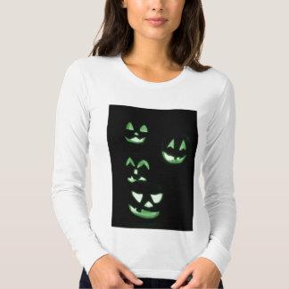 4 Jack-O-Lanternas do Lit - verde Camisetas
