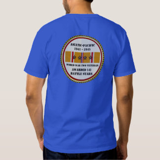 4 veterano pacífico asiático das ESTRELAS WWII da Camisetas