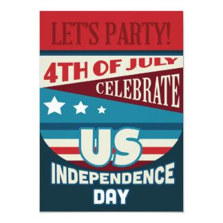 4o da tipografia da bandeira dos Estados Unidos do Convites