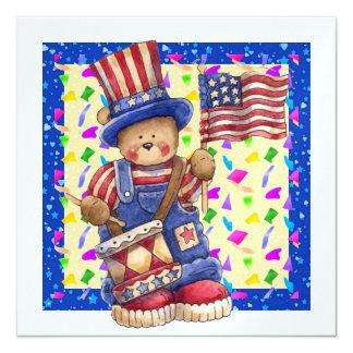 - 4o de julho - Dia da Independência patriótico! Convite Personalizados