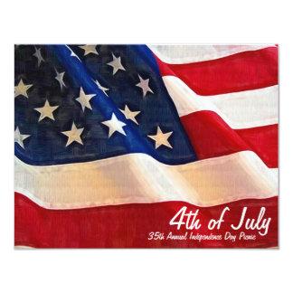4o do Dia da Independência do partido da empresa Convite 10.79 X 13.97cm