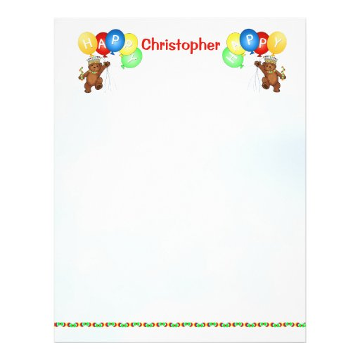 4o papel feliz 3 do álbum de recortes do urso do a modelo de panfleto