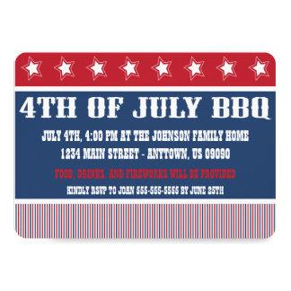 4o rústico de convites do CHURRASCO de julho