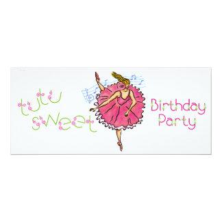 4x9 convida o partido da bailarina do aniversário convites personalizado
