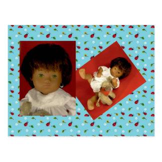 501-4 Sasha bebé Girl Nightdress cartão postal
