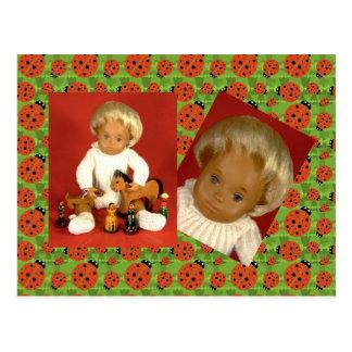 502 4 bebé bebé Woolly cartão postal