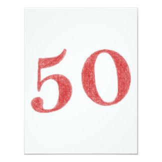 50 anos de aniversário convite 10.79 x 13.97cm