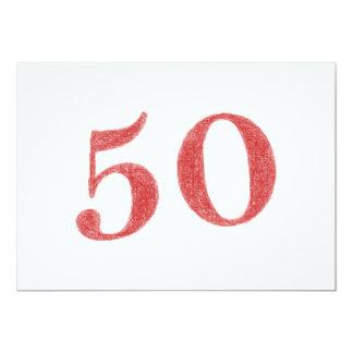 50 anos de aniversário convite 12.7 x 17.78cm