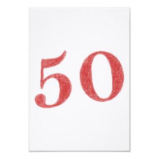 50 anos de aniversário convite 8.89 x 12.7cm