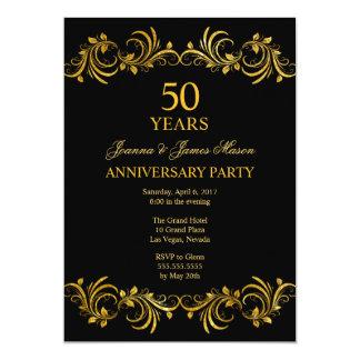 50 anos de convite da festa de aniversário